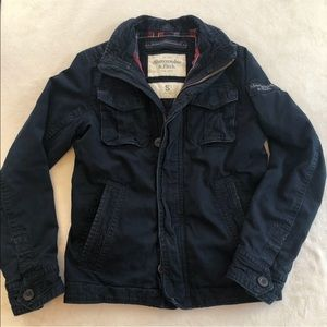 Vintage Abercrombie & Fitch bomber flannel coat